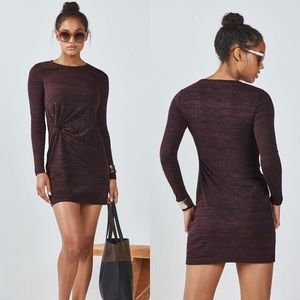 Fabletics Burgundy Brooke Space Dye Dress NWT
